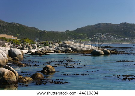Simons Town beach on Cape of Good Hope, South Africa