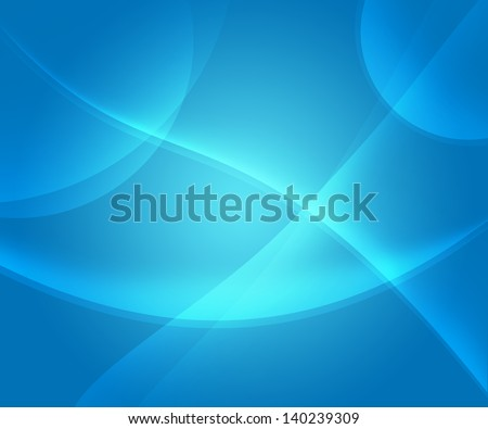 Simple abstract blue background with lines and curves