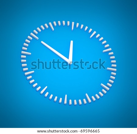 Simple Abstract Clock Background - stock photo