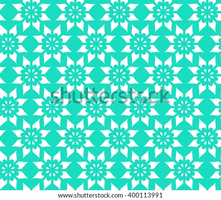 Simple Abstract Seamless Pattern of Flower, Illustration  - stock photo