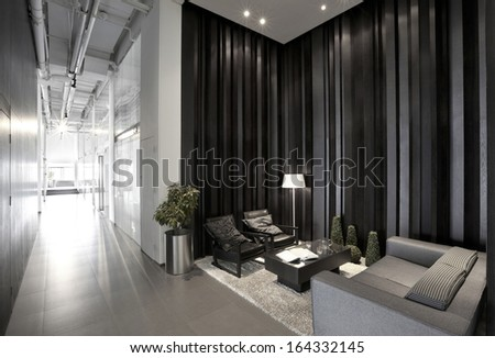 Simple and stylish office environment - stock photo