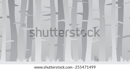 Simple background image of trees. This image is horizontally seamless and can be used as a scrollable background.