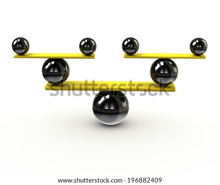 Simple balance icon - stock photo