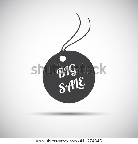 Simple big sale label, icon for your business