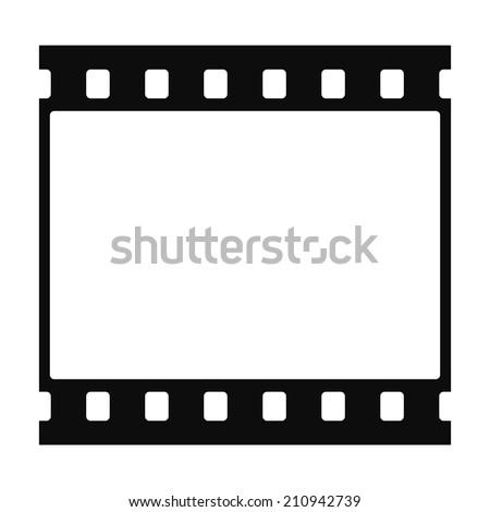 Simple black film strip - stock photo