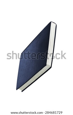 simple blue hardcover book - stock photo