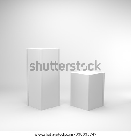 simple box display - stock photo