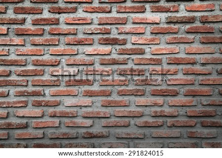 Simple brick wall for background - stock photo