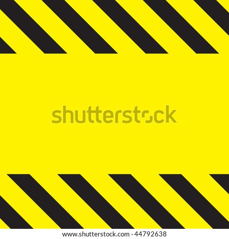 Simple caution construction background stripes on yellow.