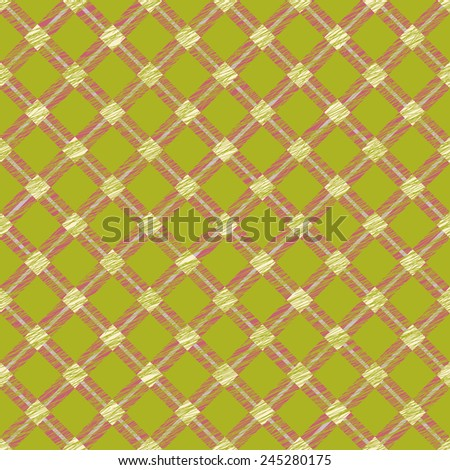 Simple checkered template. Plain tartan background for decoration or backdrop. Brush strokes. Pattern fills. Abstract backdrop. Endless. Fabric with scratch lines. - stock photo