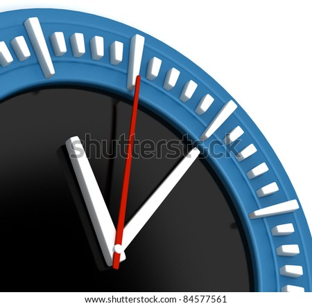 Simple Classic Clock - stock photo