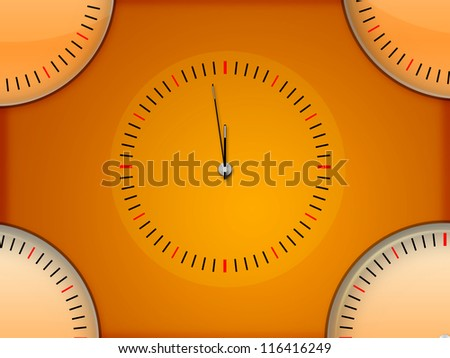 Simple Clock Background - stock photo