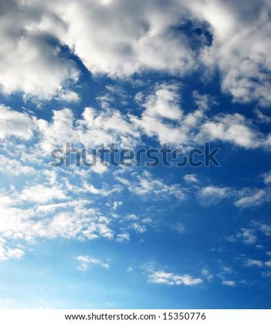 Simple cloudy sky. - stock photo
