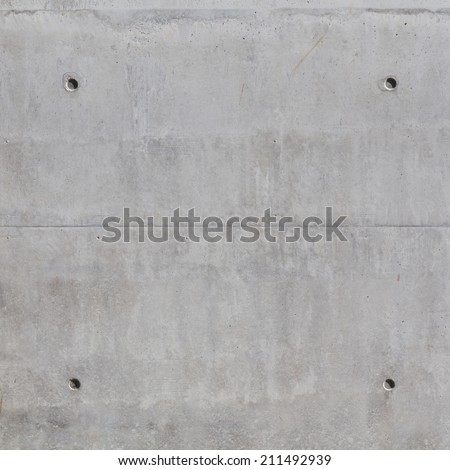 Simple concrete wall background with texture - square image - stock photo