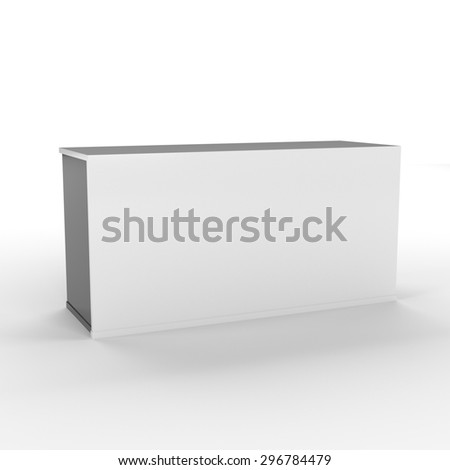 simple cube shape desk or counter - stock photo