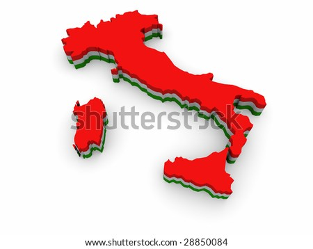 Simple 3D map of Italy