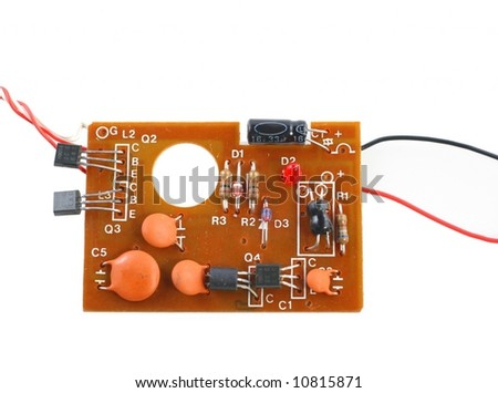 simple electronic card on white background - stock photo