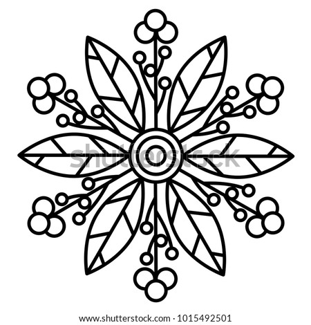 mandala coloring pages for beginners - simple floral mandala print easy coloring stock