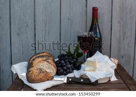 simple french dinning - stock photo
