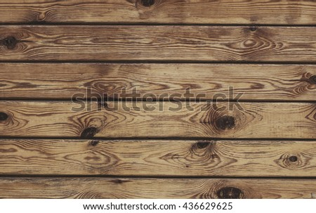 Simple horizontal boards wood texture background for design. - stock photo