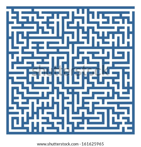 simple labyrinth with some wrong ways and exit