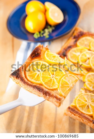 Simple Lemon Tart from Puff Pastry