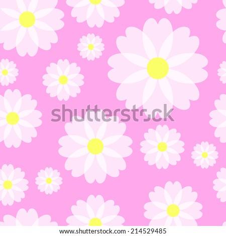 Simple lovely flower pattern - stock photo