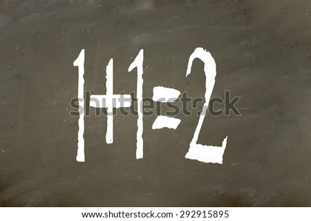 simple math - stock photo