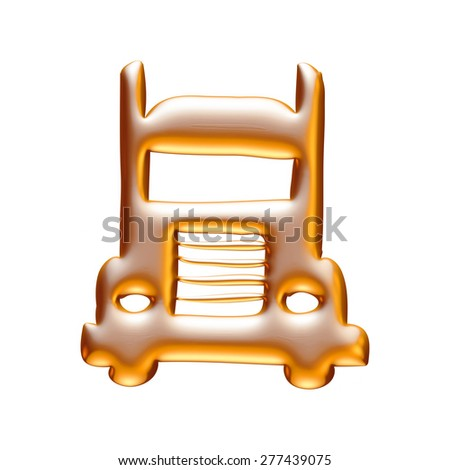 simple monochromatic transport related icon for your design or application in gold on white background. - stock photo