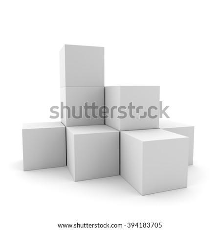 simple multi-box display  - stock photo