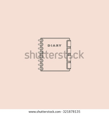 Simple organizer. Outline icon. Simple flat pictogram on pink background - stock photo