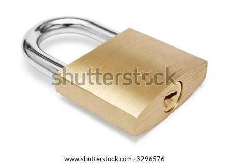Simple Padlock - stock photo