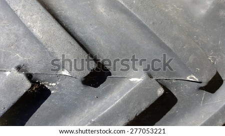 Simple pattern of rugged utility truck tire grips - stock photo