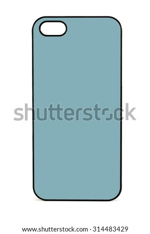 Simple phone case - stock photo