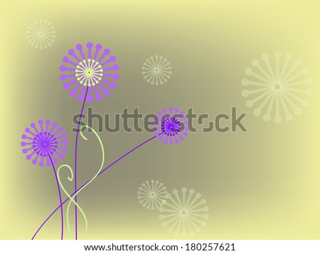 simple pink flowers on bright background - stock photo