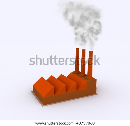 simple plant orange and beige with a slight shadow effect and the effect of smoke