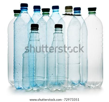 simple plastic bottles - stock photo