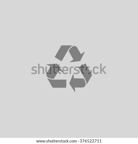 Simple Recycling. Grey simple flat icon