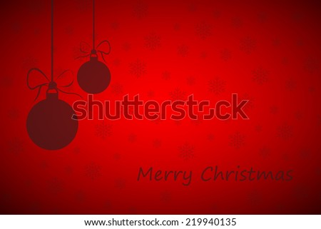 Simple red merry christmas background (Vector version is also available in my portfolio, ID 155657186) - stock photo