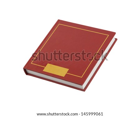 Simple red square book isolated on white background - stock photo