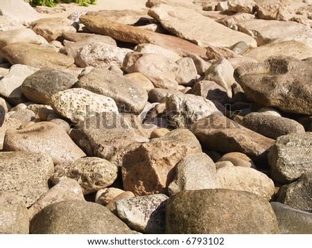 simple rocks - stock photo