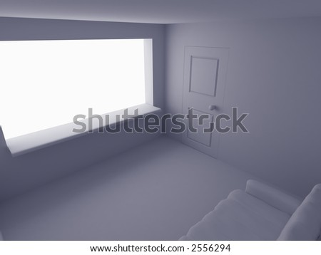 Simple room made in 3d