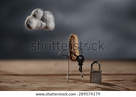 Simple Things - Data and Computer Security in the Cloud - stock photo