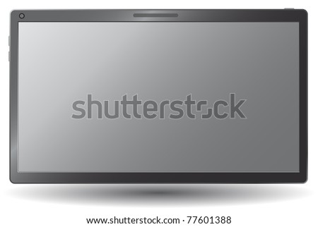 Simple touchscreen tablet