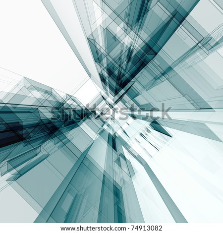 Simple tunnel. Abstract architecture background - stock photo