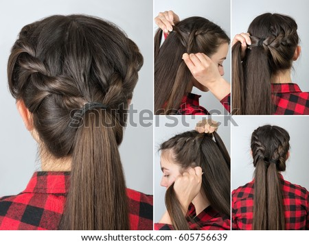 Simple Twisted Hairstyle Tutorial Step By Easy For Long Hair Pony Tail