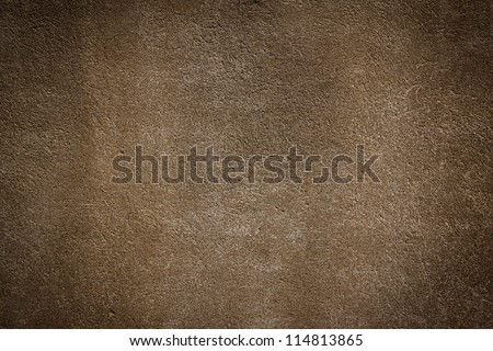 Simple wall brown stone texture background - stock photo