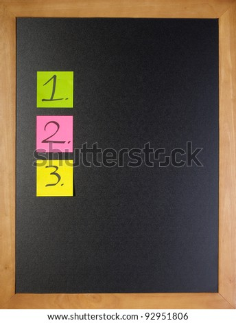 Simple way to list your priorities with copyspace for a message - stock photo