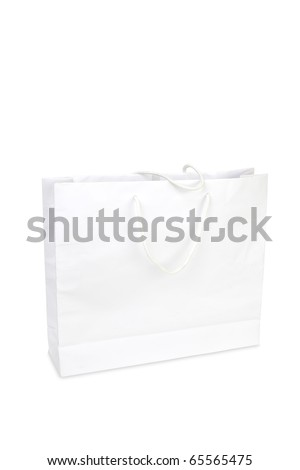 simple white bag on white background