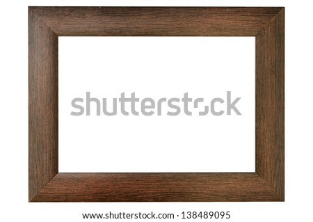 Simple wood frame - stock photo